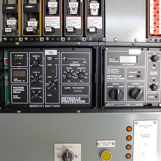 Tap change control relays