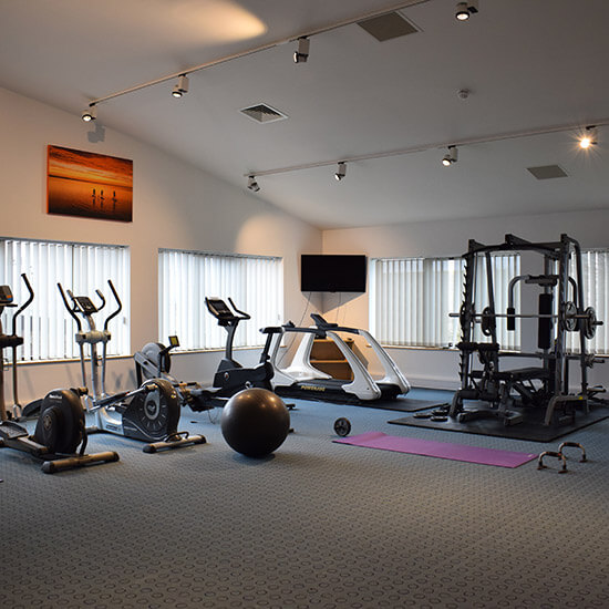 The new office also has a fully equipped staff gym and bespoke reception area