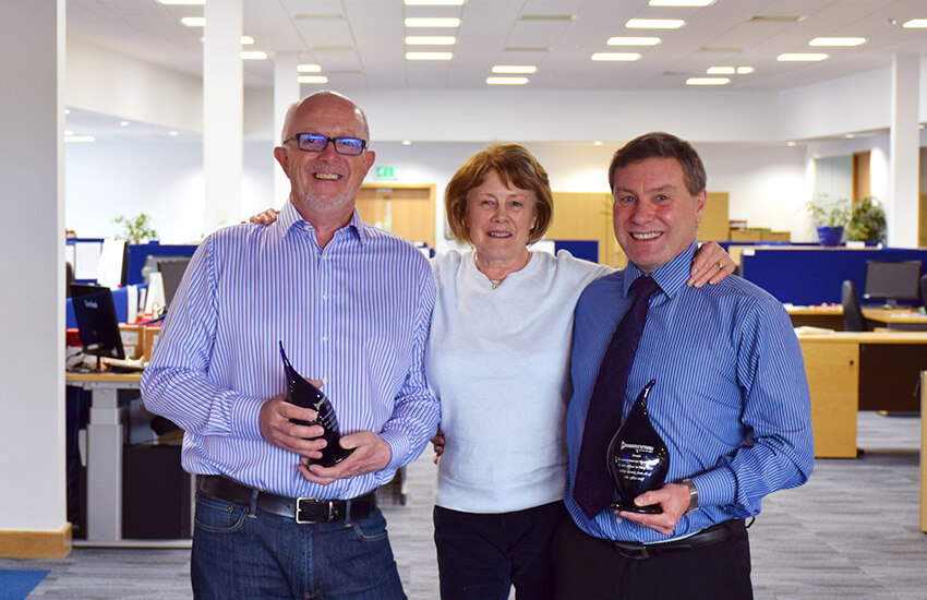 Derek Earby, Barbara Wilsmore, Stuart Wilsmore celebrate 40 years of success