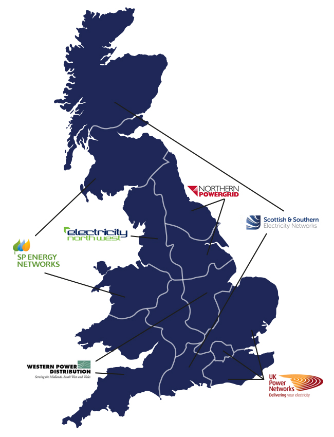 Powersystems UK map of projects