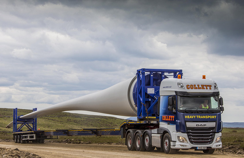 Dorenell Wind Farm Blade Transportation