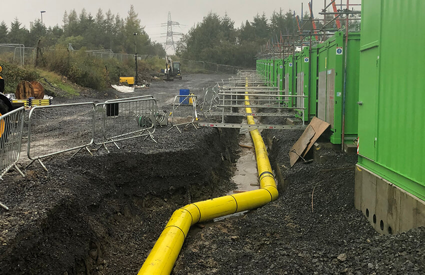 Brecon Power STOR Gas Pipework in ground