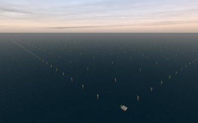 The world's biggest ever off-shore wind farm project at Doggerbank