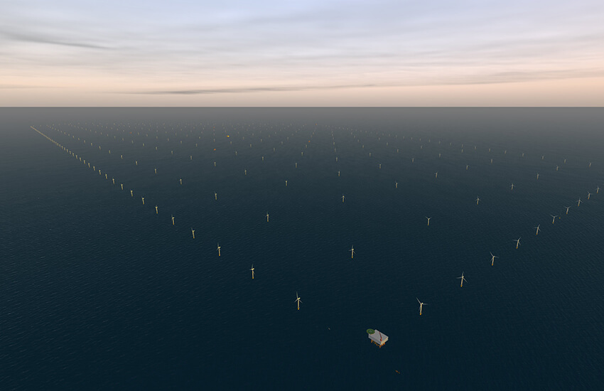 Off-shore wind farm project at Doggerbank