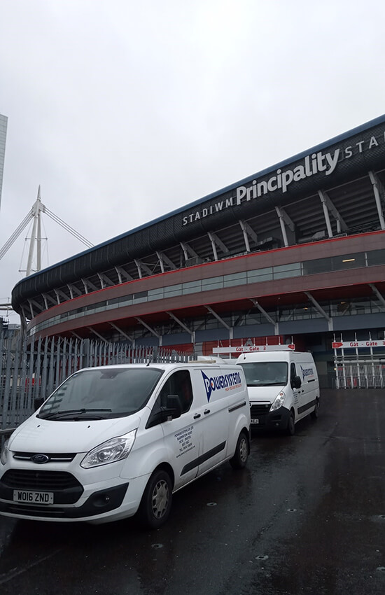 Principality Stadium Cardiff and Powersystems