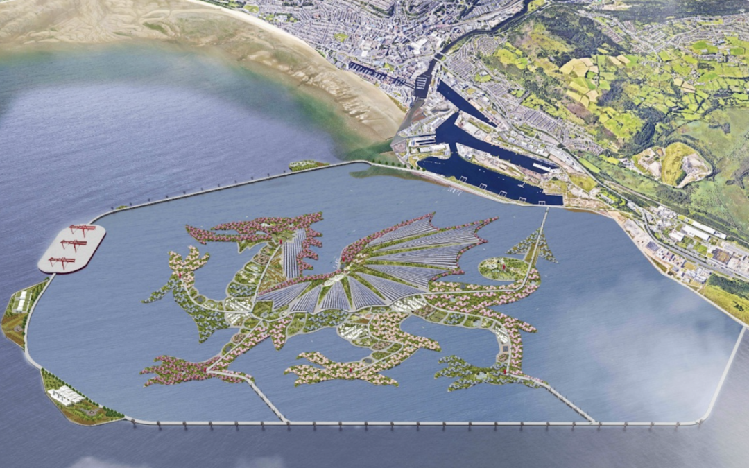 Plan for Dubai-style artificial island in Swansea Bay