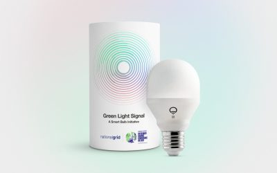 National Grid launches a low-energy light bulb to glow green when electricity at home is cleanest