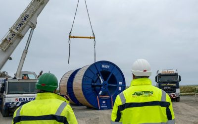 First Dogger Bank onshore cables arrive ready for 129km of cabling installation