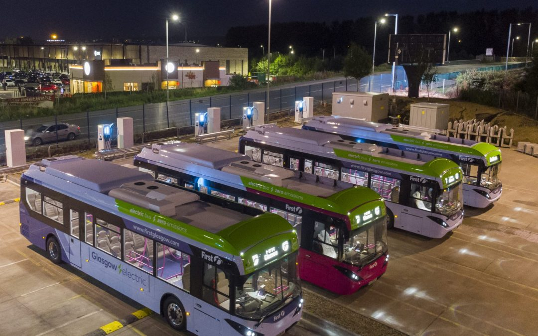 Electrical infrastructure works have been completed to house 22 e-buses in Glasgow